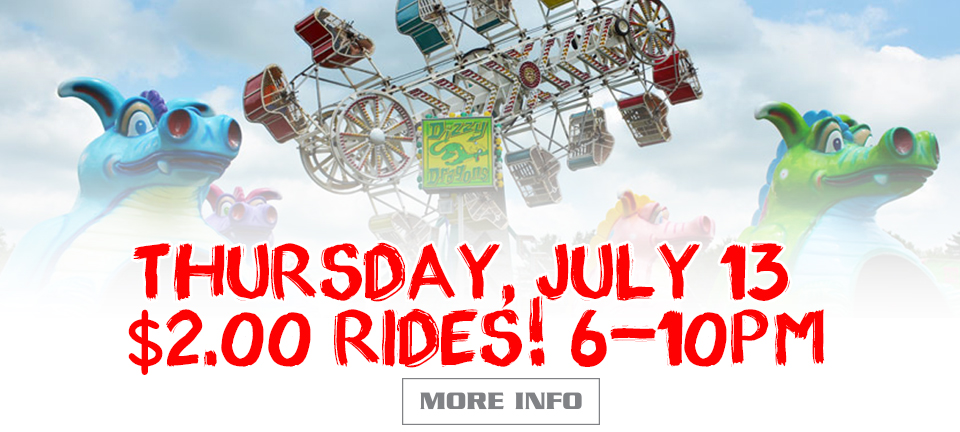 Two Dollar Rides from 6-10pm