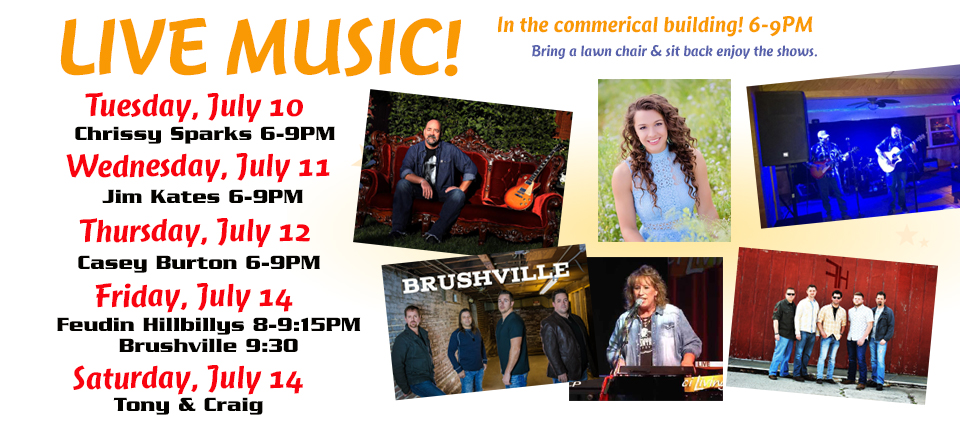 Live Music at the commercial building 6-9pm