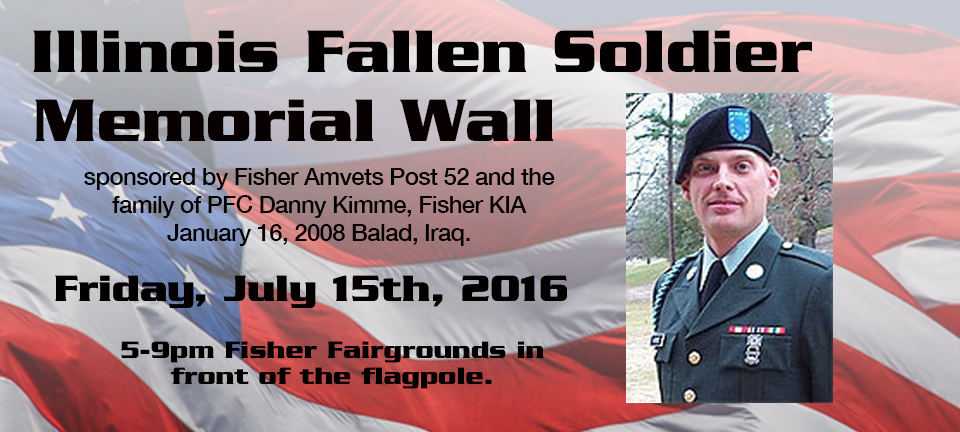 Fisher Fair Memorial Wall July 15, 2016